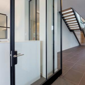 large steel pivot door