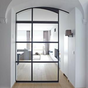 steel framed sliding door for interior design