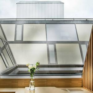 steel glass roof to loft apartment