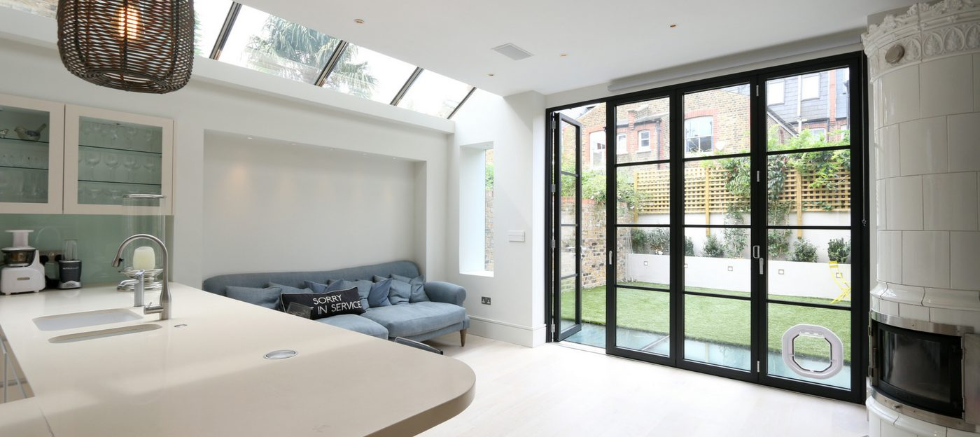 Steel Look Bifolding Doors
