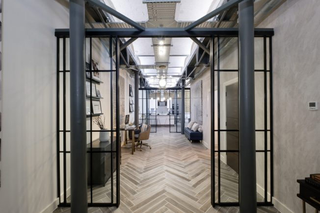 Mondrian 174 Glazing Steel Industrial Style Glazing