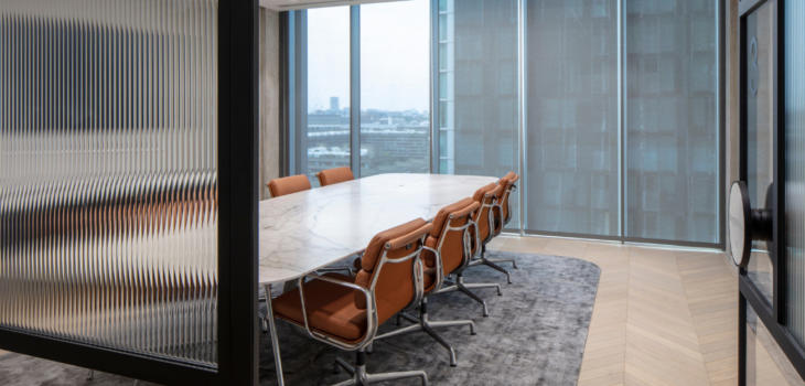 fluted glass for office spaces